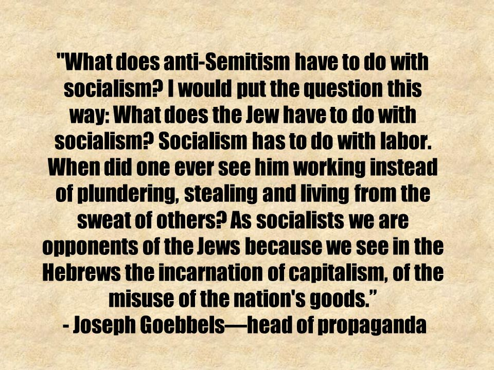 What does anti-Semitism have to do with socialism