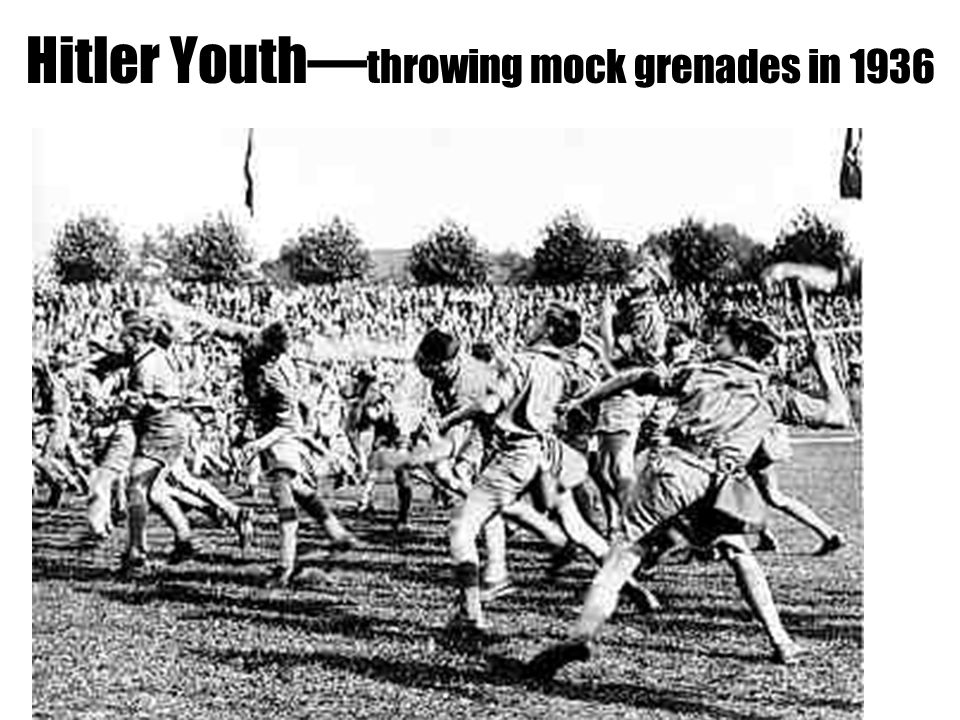 Hitler Youth—throwing mock grenades in 1936