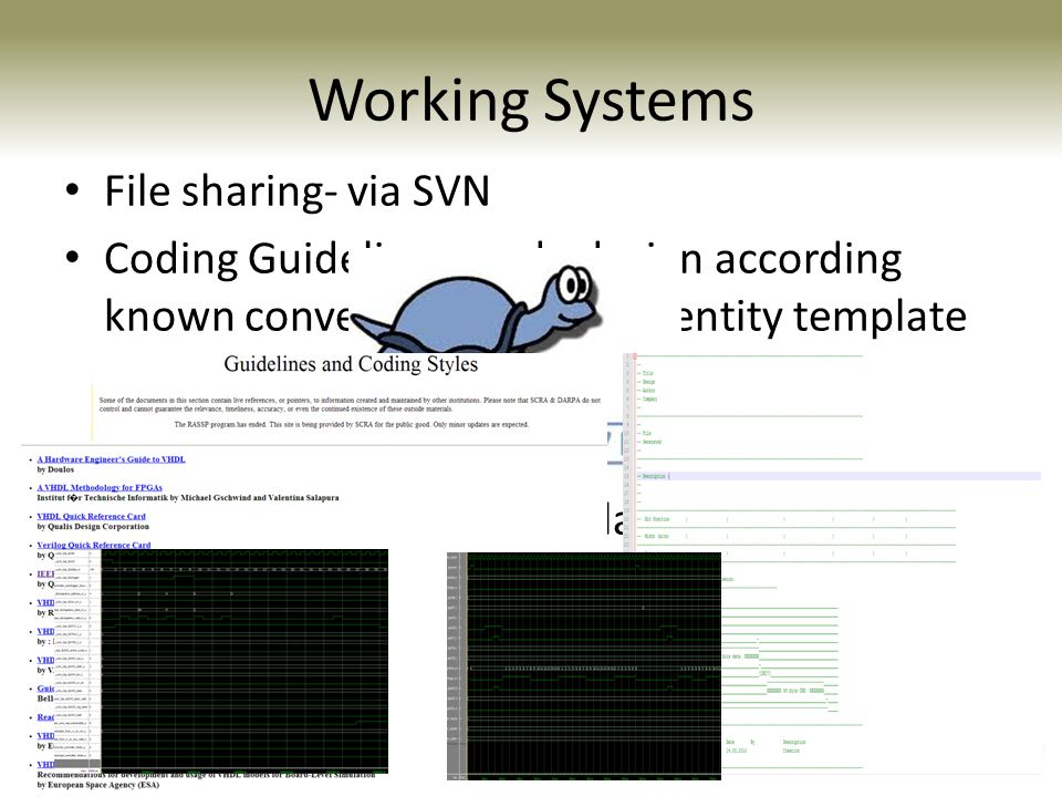 Working Systems File sharing- via SVN