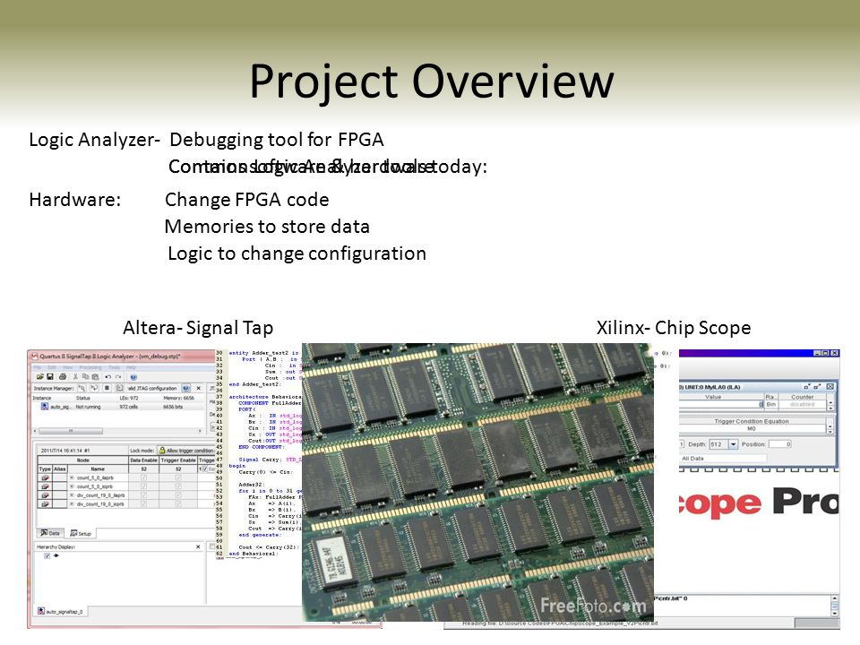 Project Overview Logic Analyzer- Debugging tool for FPGA