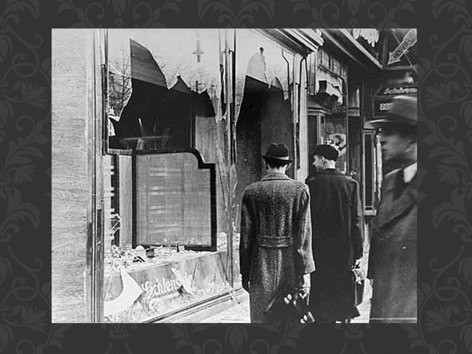 Kristallnacht What do you see here What happened Where were the police when this happened