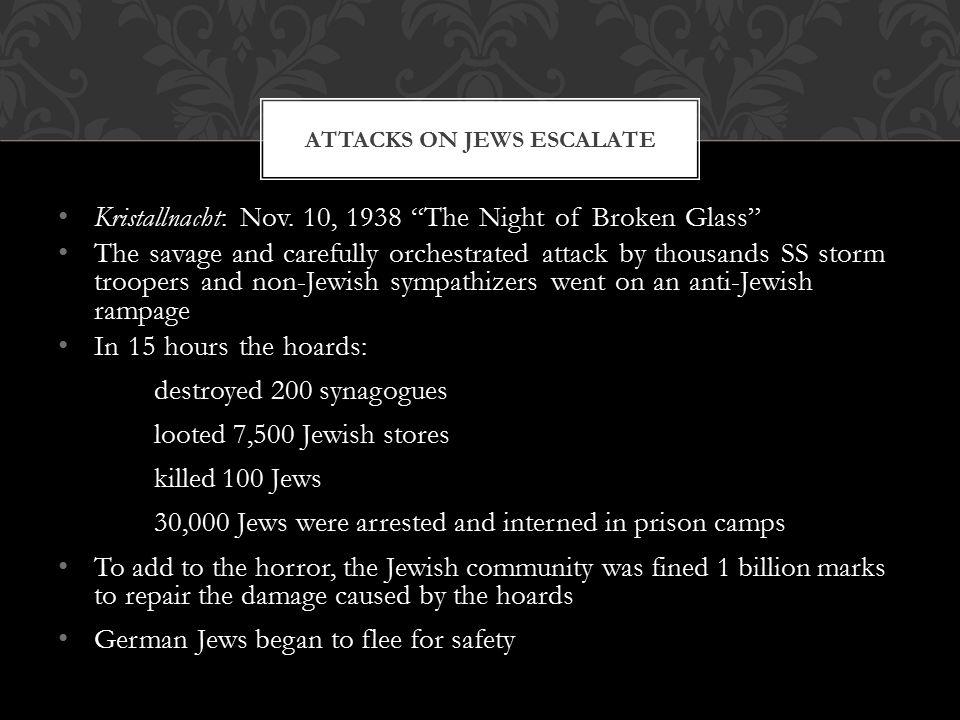Attacks on Jews escalate