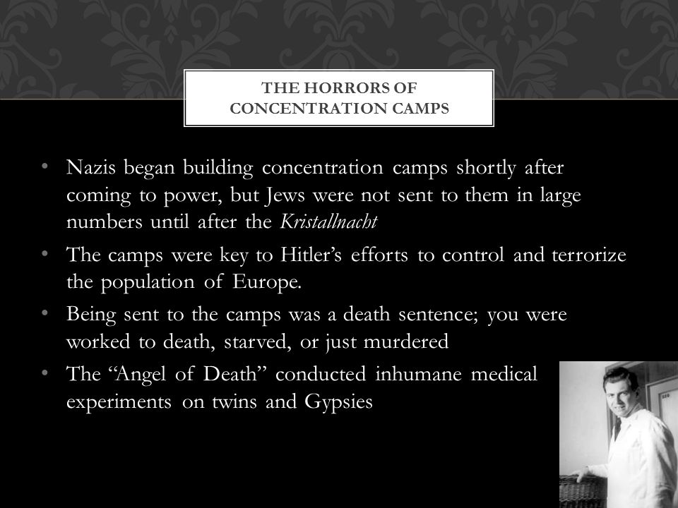 The horrors of concentration camps