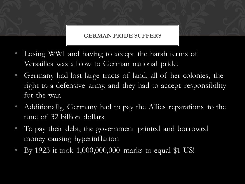 By 1923 it took 1,000,000,000 marks to equal $1 US!