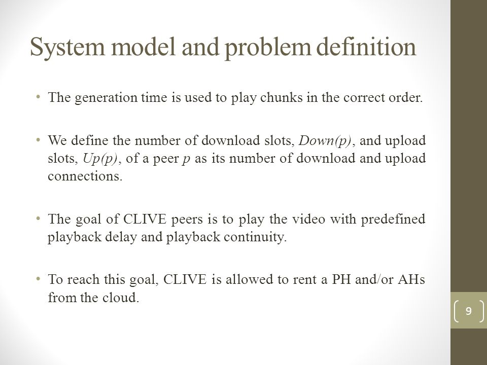 System model and problem definition