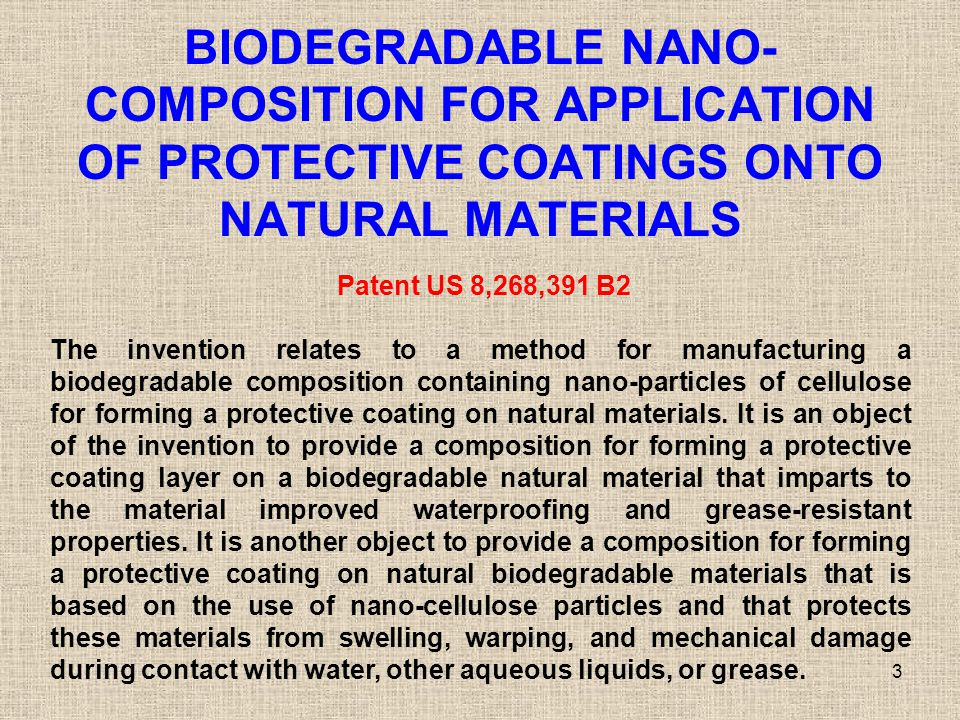 BIODEGRADABLE NANO-COMPOSITION FOR APPLICATION OF PROTECTIVE COATINGS ONTO NATURAL MATERIALS