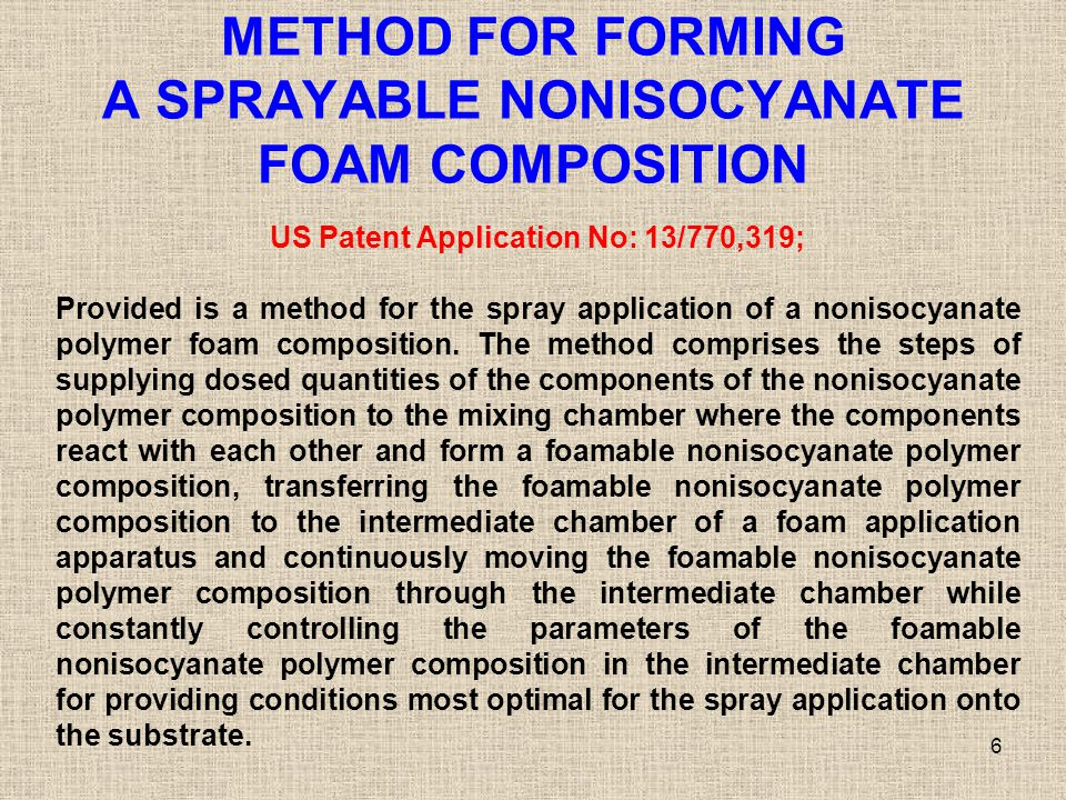 METHOD FOR FORMING A SPRAYABLE NONISOCYANATE FOAM COMPOSITION