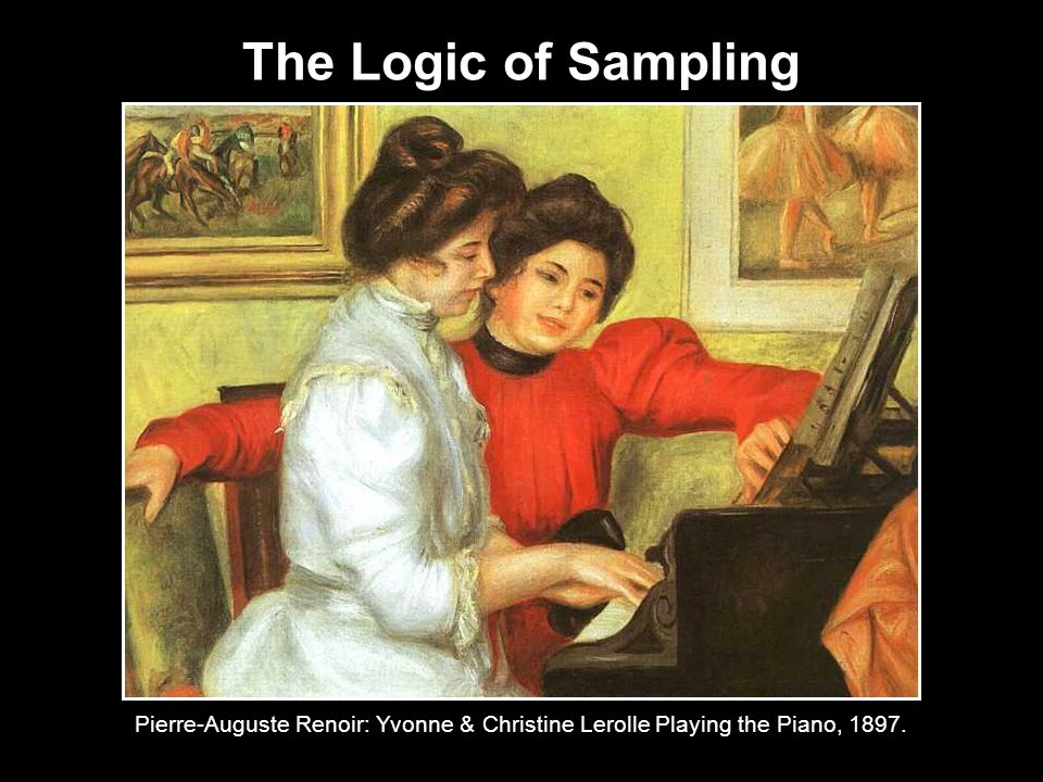 The Logic of Sampling Pierre-Auguste Renoir: Yvonne & Christine Lerolle Playing the Piano, 1897.