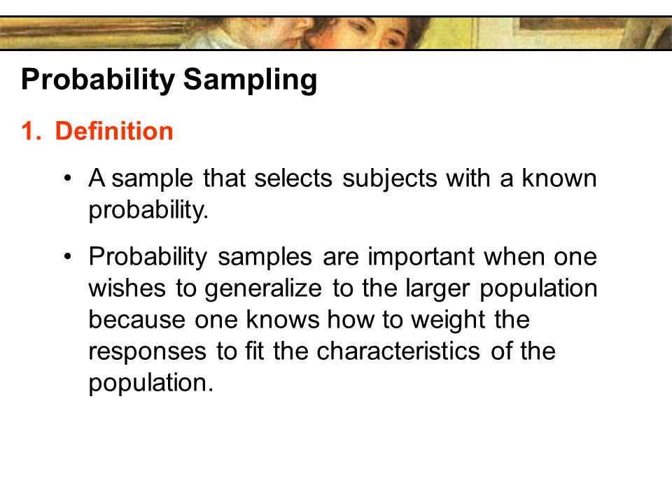 Probability Sampling Definition