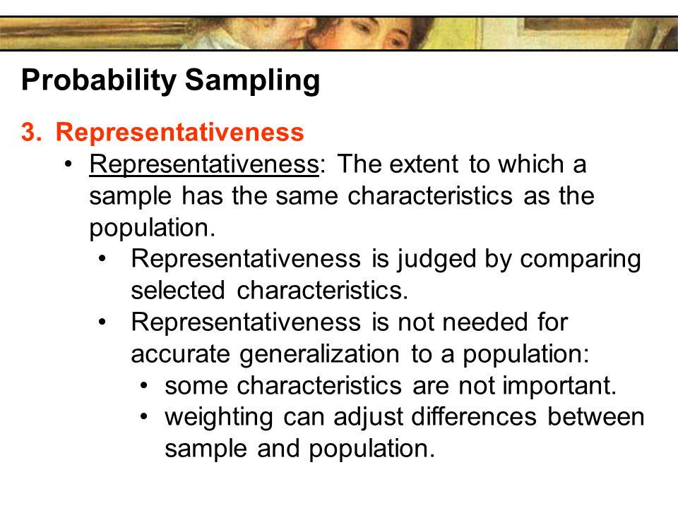 Probability Sampling Representativeness