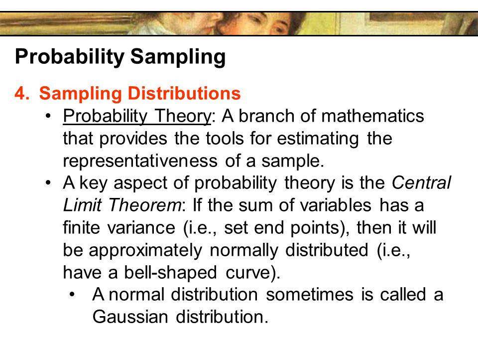 Probability Sampling Sampling Distributions