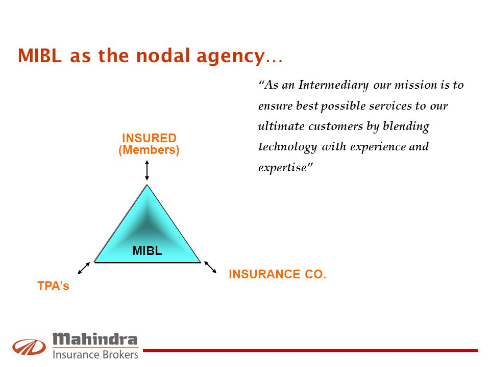 MIBL as the nodal agency…