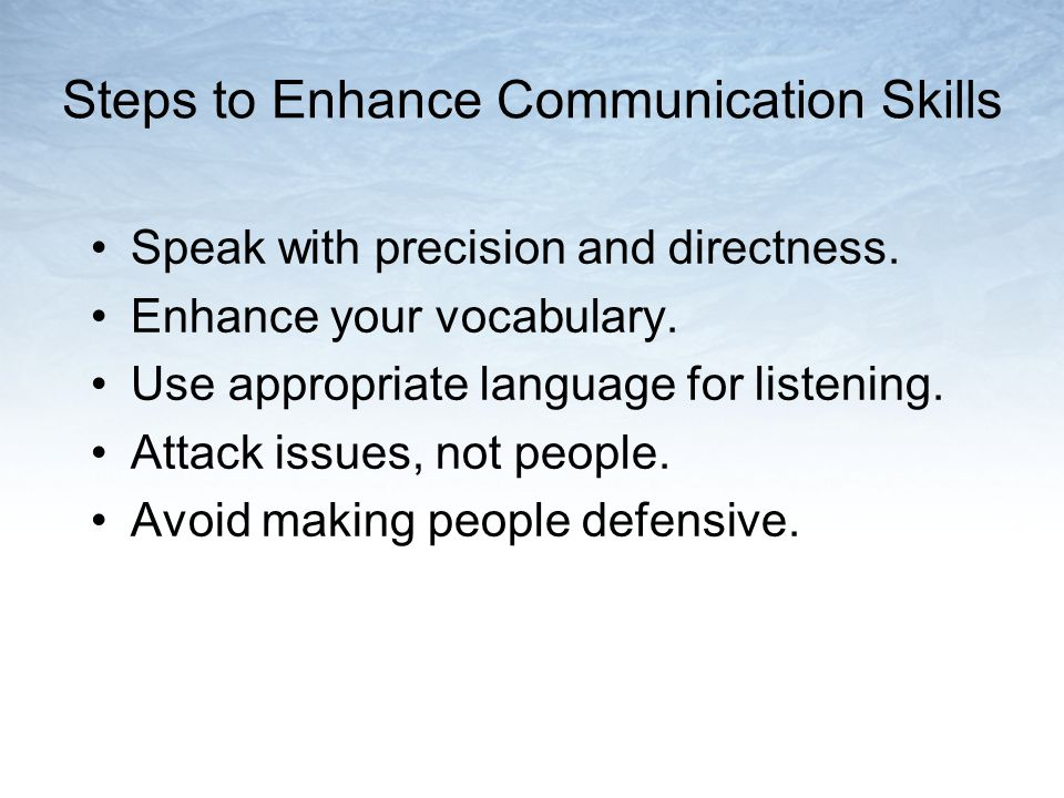 Steps to Enhance Communication Skills
