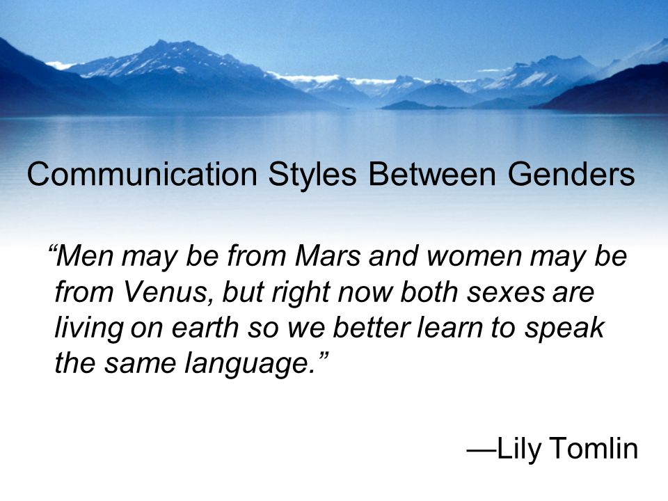 Communication Styles Between Genders