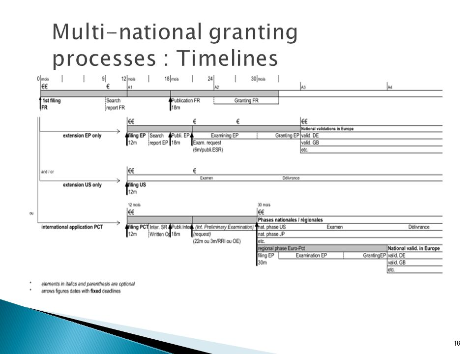 Multi-national granting processes : Timelines