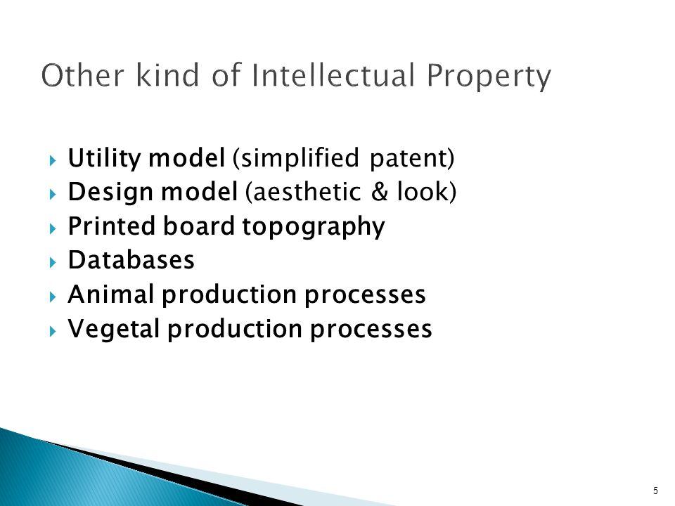 Other kind of Intellectual Property