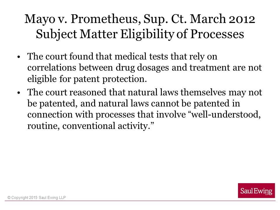 Mayo v. Prometheus, Sup. Ct