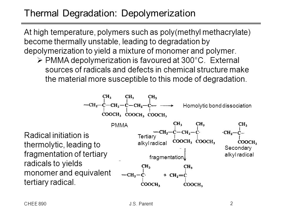 Thermal Degradation: Depolymerization