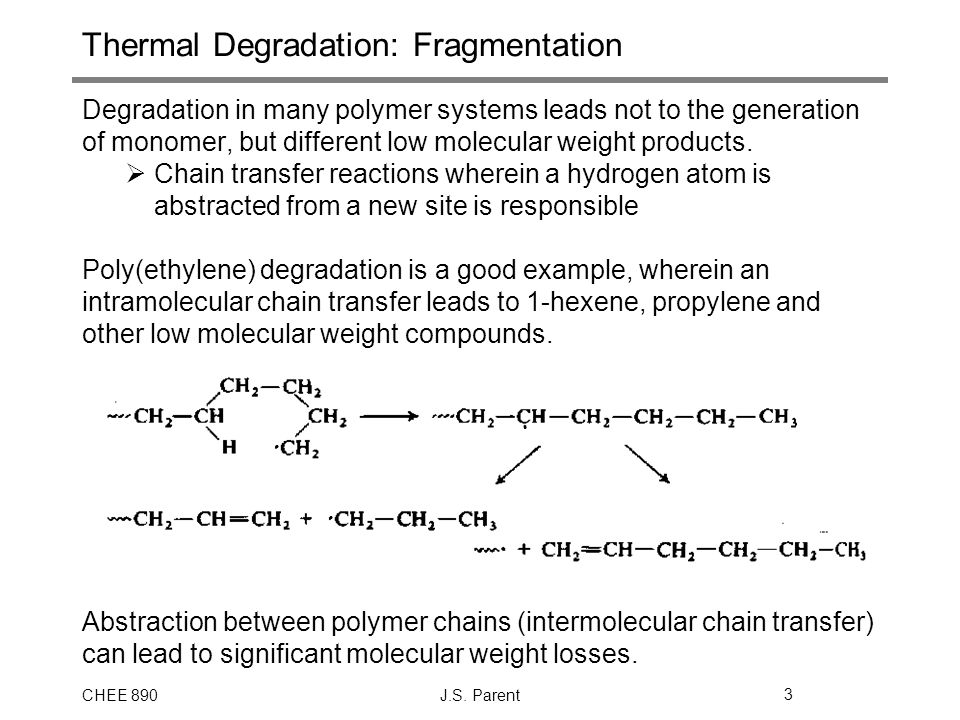 Thermal Degradation: Fragmentation