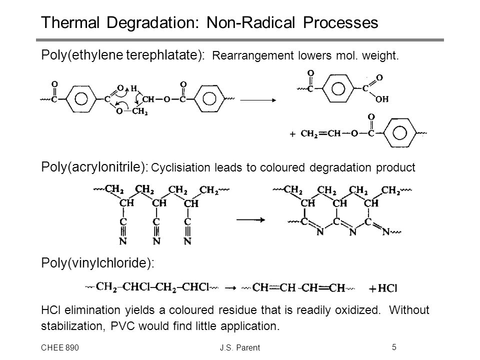 Thermal Degradation: Non-Radical Processes