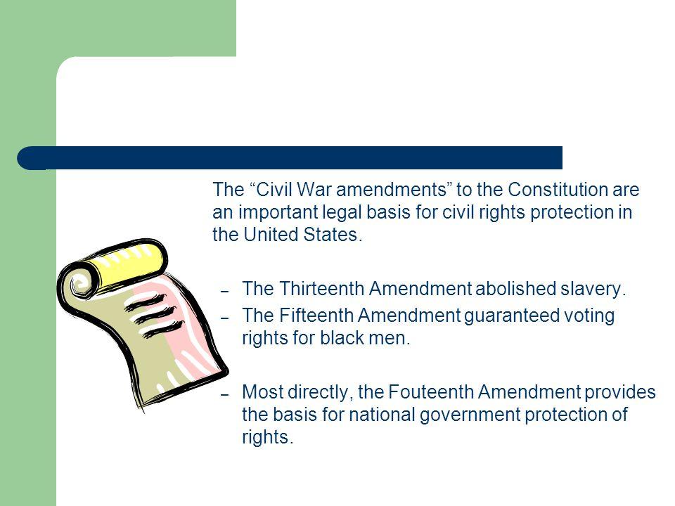 The Thirteenth Amendment abolished slavery.