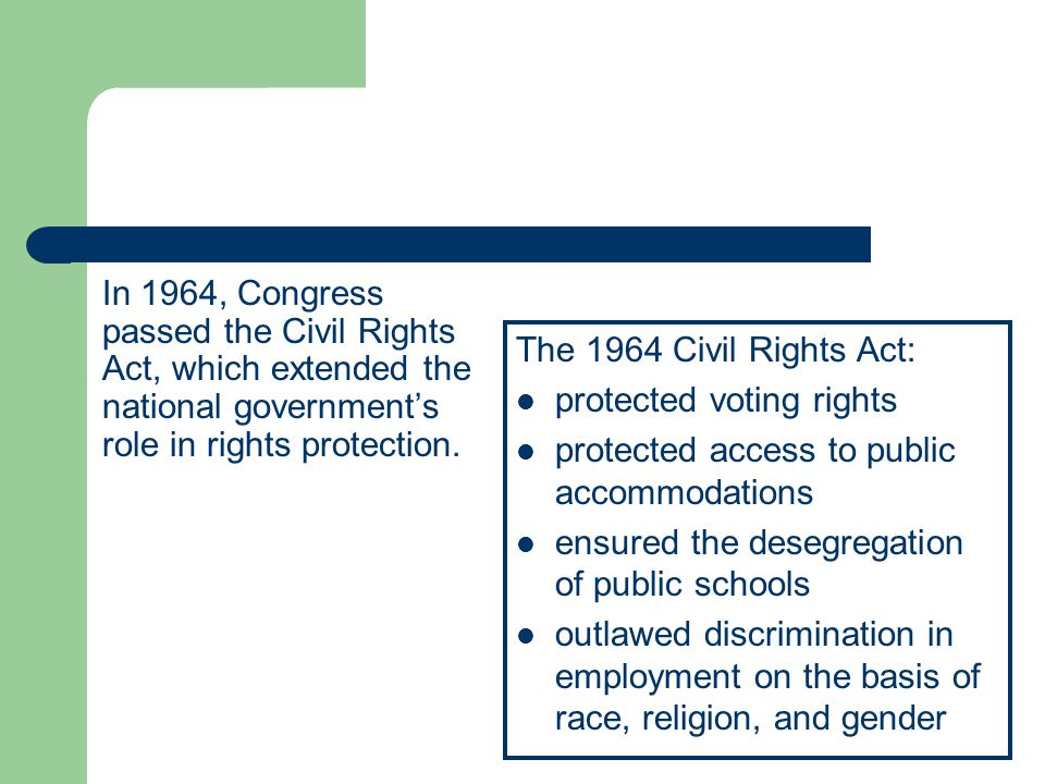 protected voting rights protected access to public accommodations