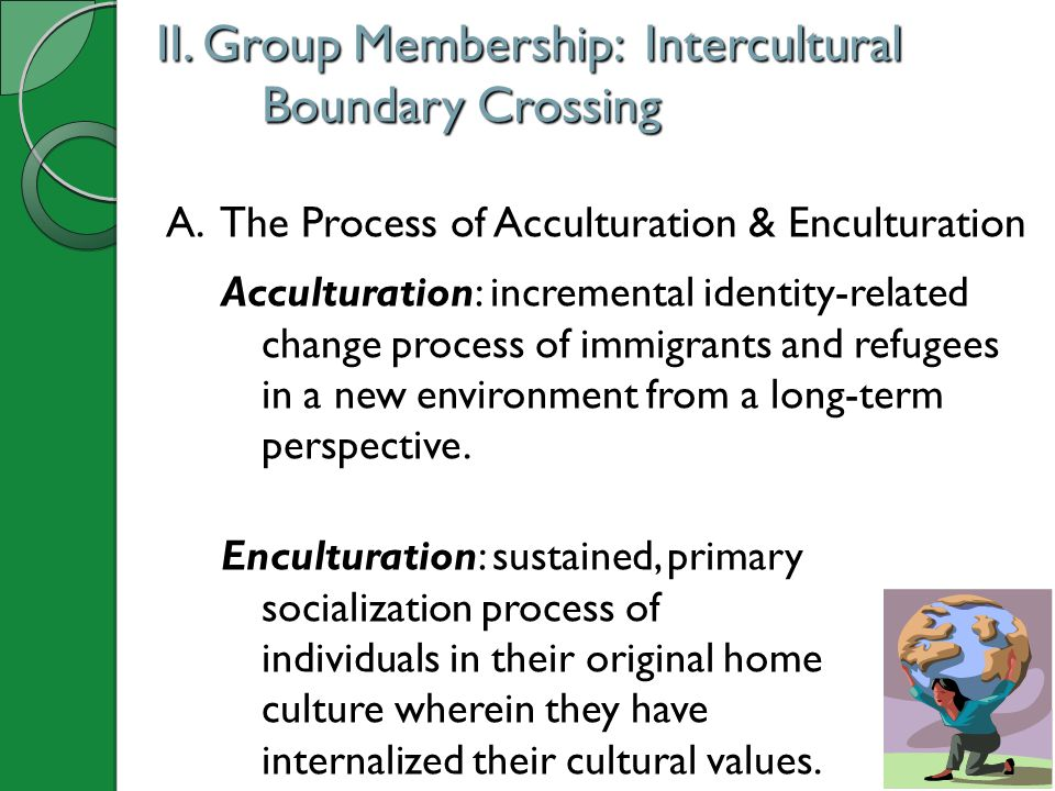 II. Group Membership: Intercultural Boundary Crossing