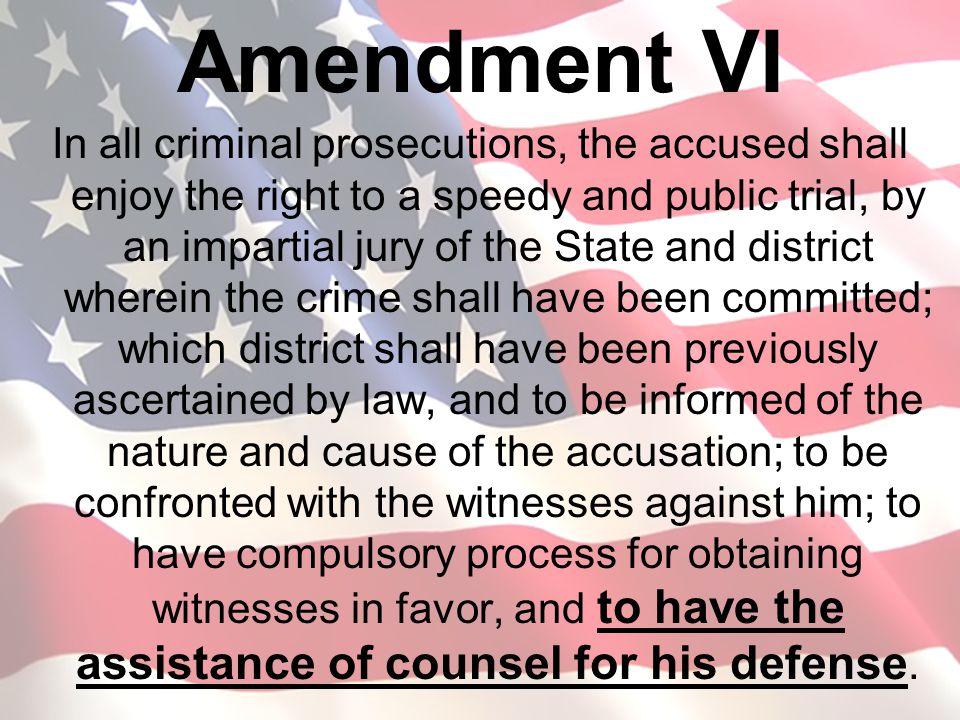 Amendment VI