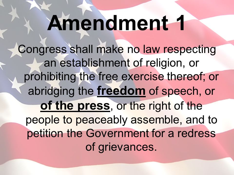 Amendment 1