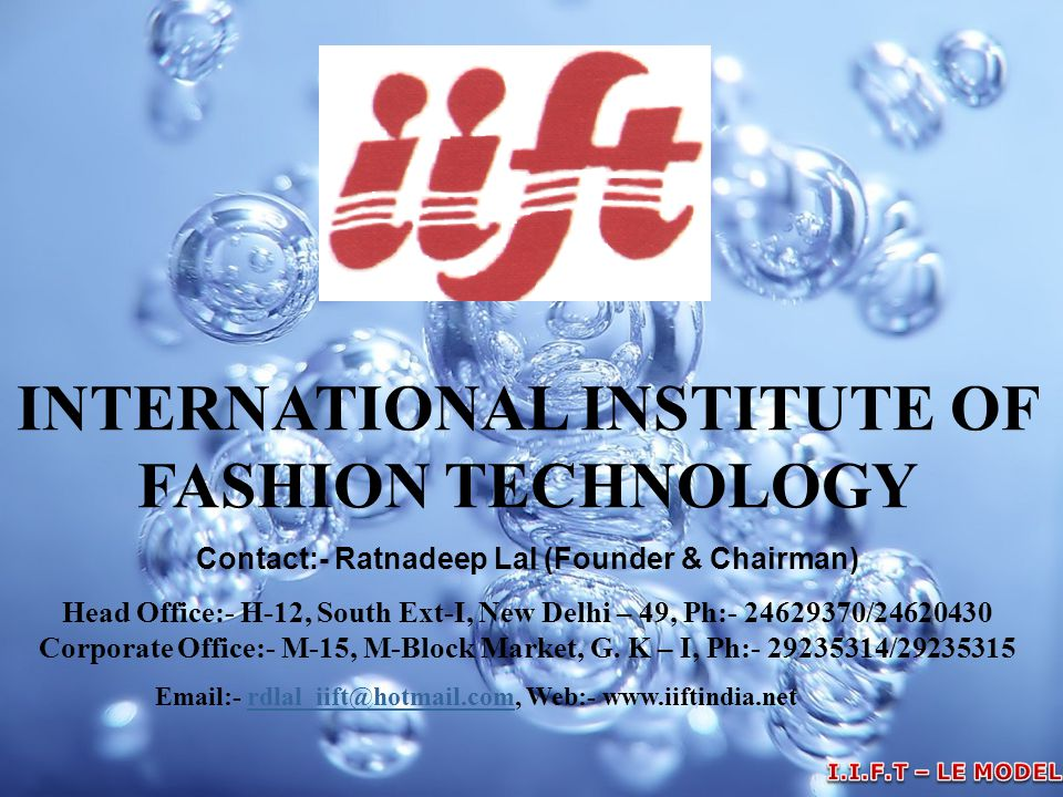INTERNATIONAL INSTITUTE OF FASHION TECHNOLOGY
