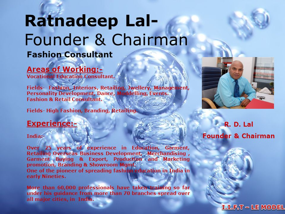 Ratnadeep Lal- Founder & Chairman