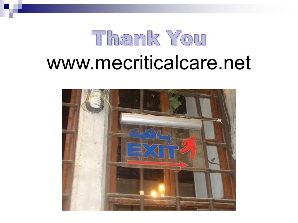 Thank You www.mecriticalcare.net