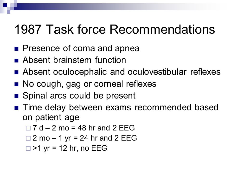 1987 Task force Recommendations