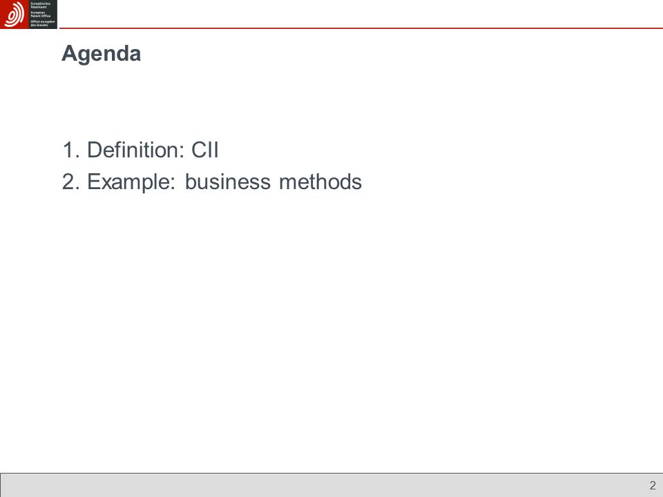 Example: business methods