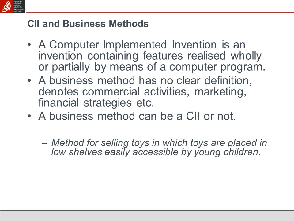 CII and Business Methods
