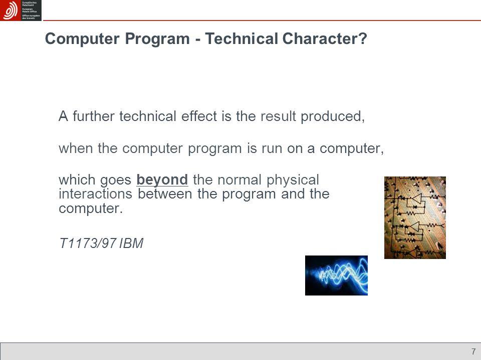 Computer Program - Technical Character