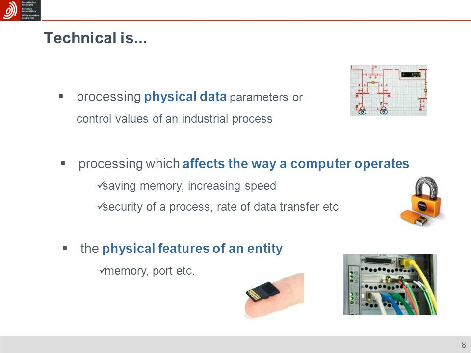 Technical is... processing physical data parameters or control values of an industrial process.