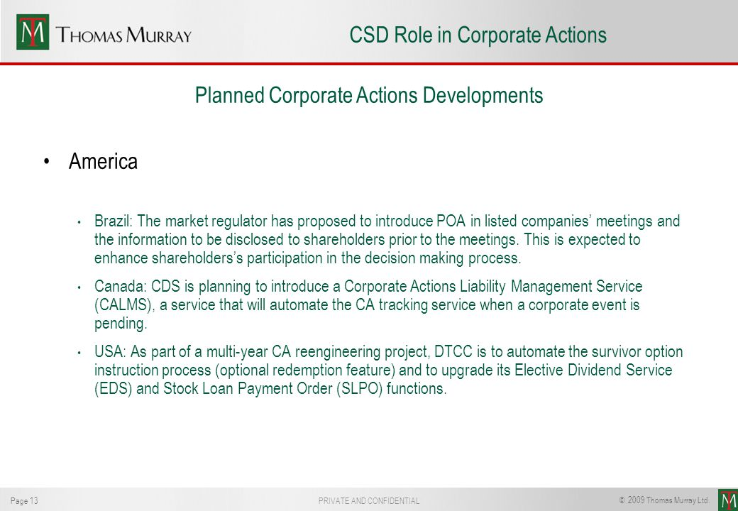 CSD Role in Corporate Actions