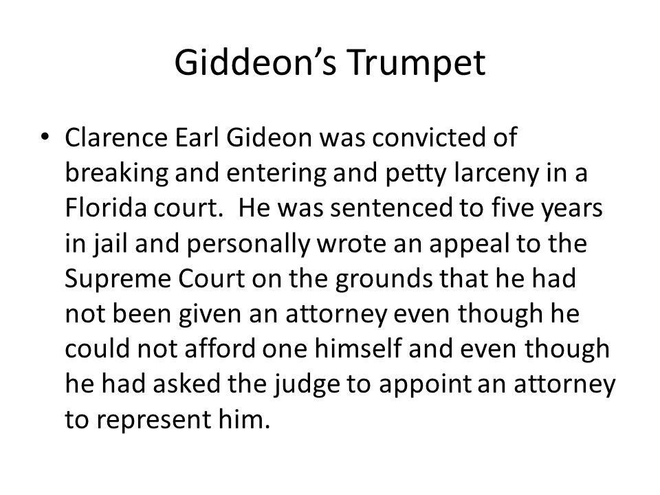 Giddeon's Trumpet
