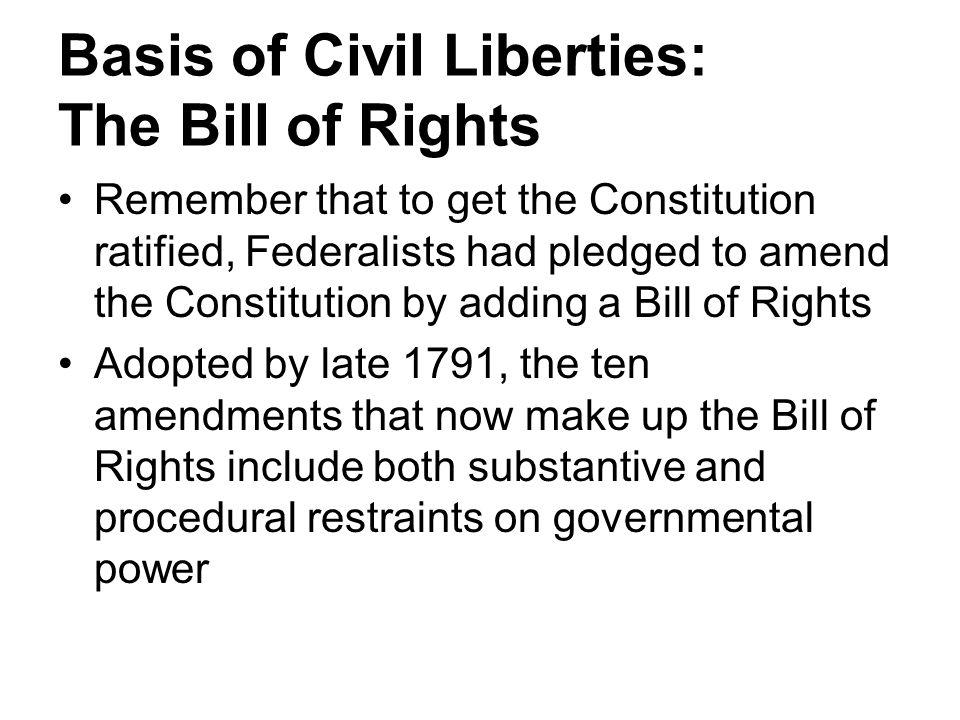 Basis of Civil Liberties: The Bill of Rights