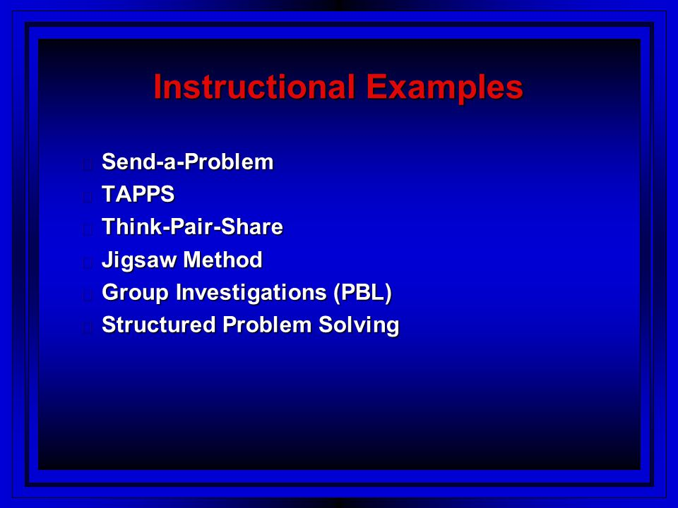 Instructional Examples