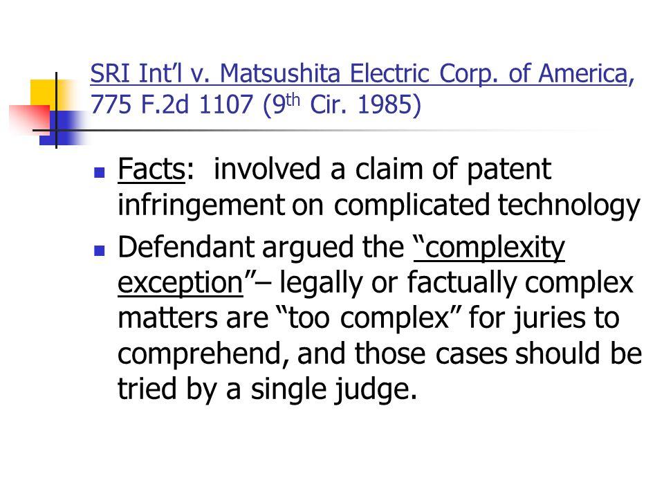 SRI Int'l v. Matsushita Electric Corp. of America, 775 F