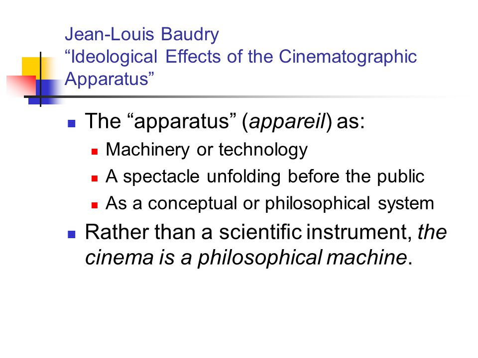 The apparatus (appareil) as: