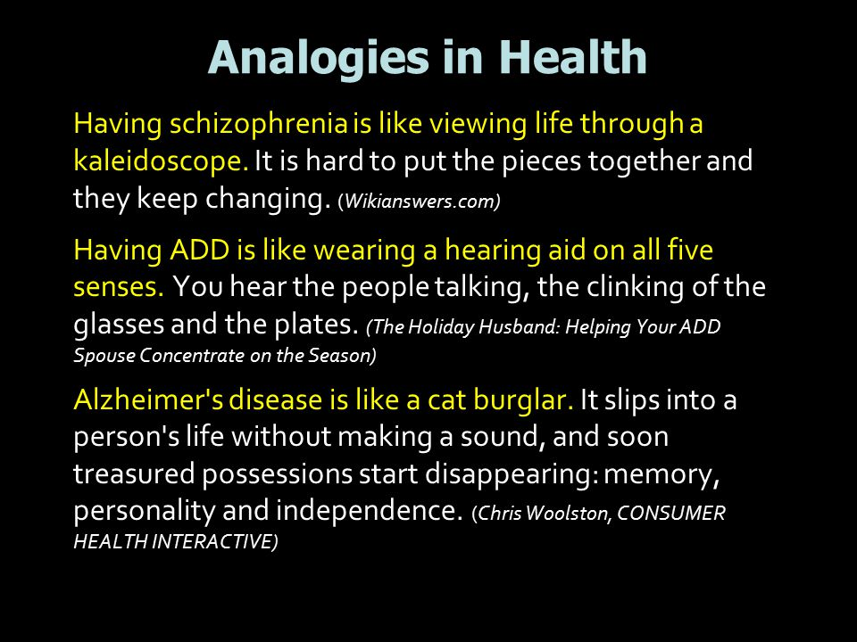 Analogies in Health