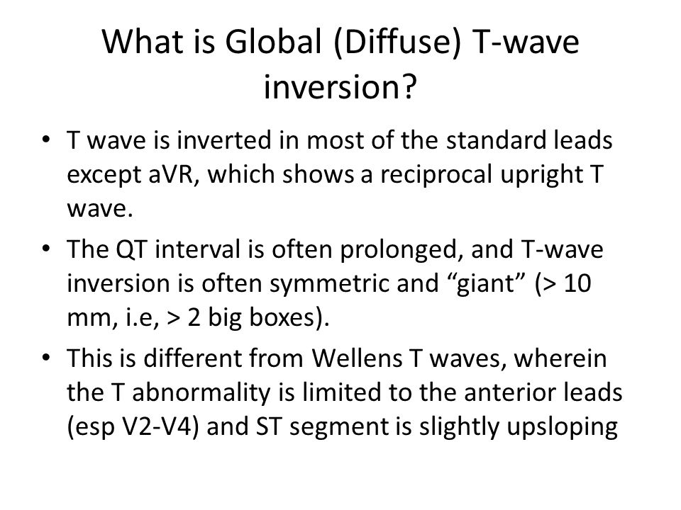 What is Global (Diffuse) T-wave inversion