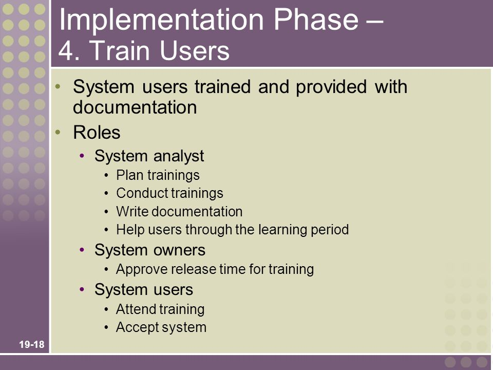 Implementation Phase – 4. Train Users