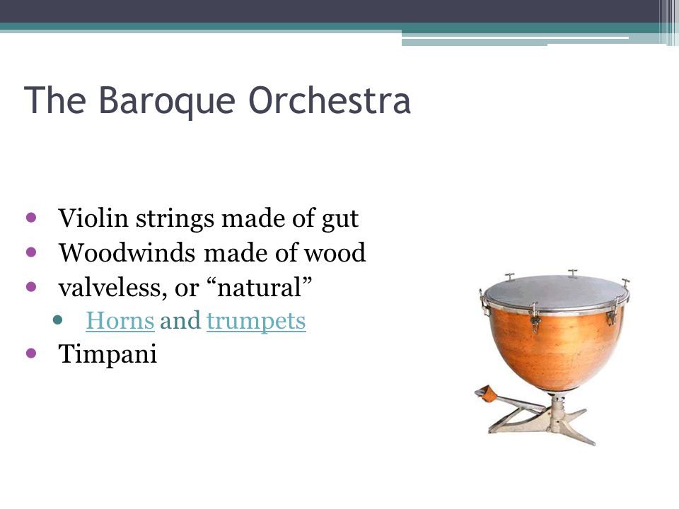 The Baroque Orchestra Violin strings made of gut