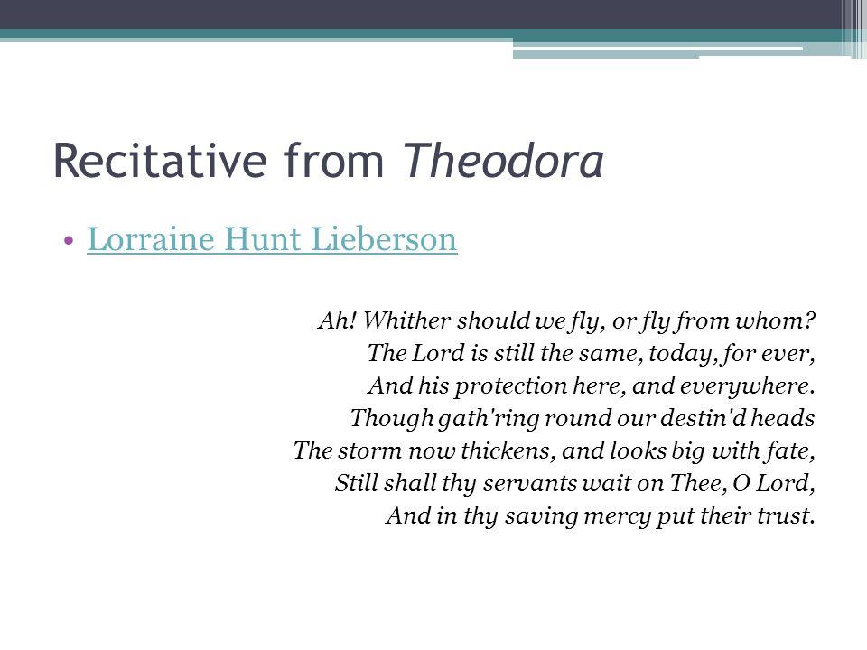 Recitative from Theodora