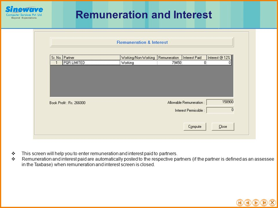 Remuneration and Interest