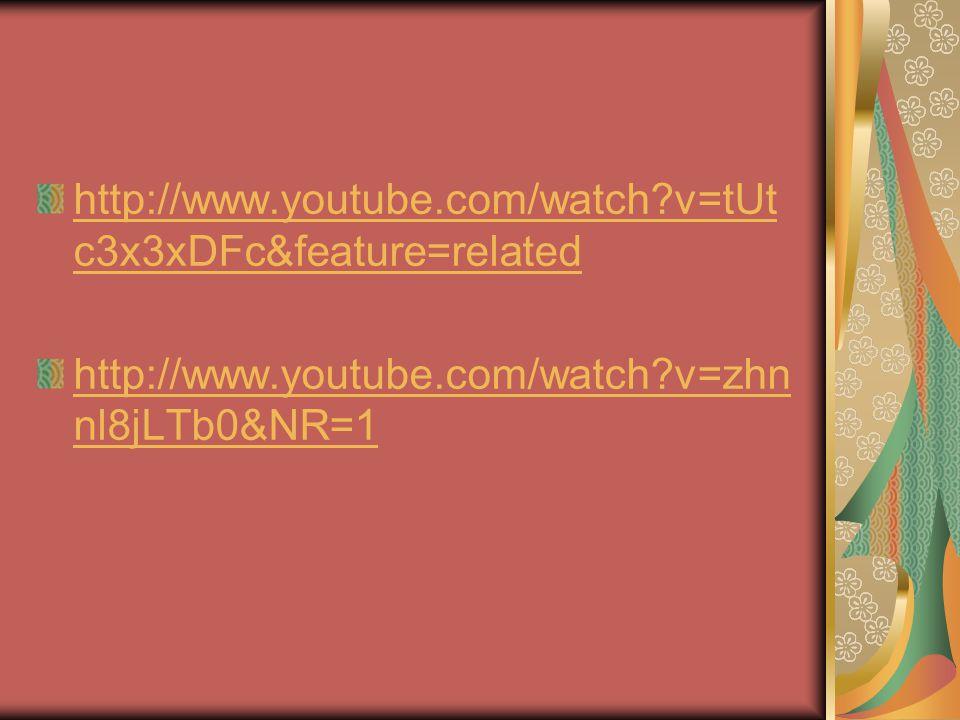 http://www.youtube.com/watch v=tUtc3x3xDFc&feature=related http://www.youtube.com/watch v=zhnnl8jLTb0&NR=1.